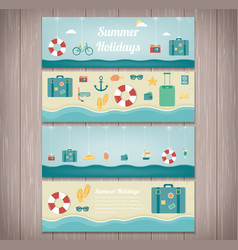 summer holidays banner collection holydas and vector image