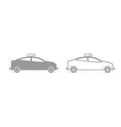 taxi grey set icon vector image vector image