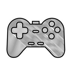 Videogame controller icon vector