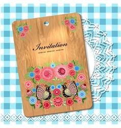 wooden utensil12 vector image vector image