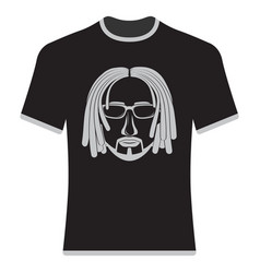 prints t-shirts with the image of hipsters vector image