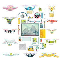 Using drones group set vector