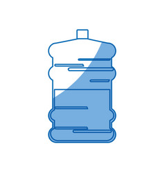 Big bottle water fresh natural design vector