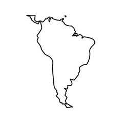 map south latin america design isolated vector image