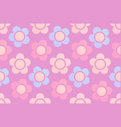 Background with cute chamomile flowers vector