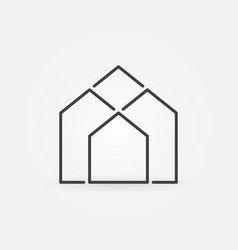 Real estate outline icon vector