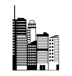 City architectural modern buildings in panoramic vector