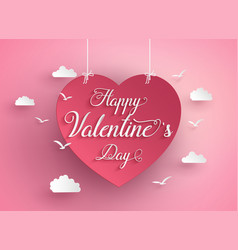 Concept of happy valentine day vector