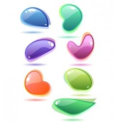 set of glass speech bubbles vector image