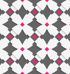 White geometrical ornament with white crosses and vector