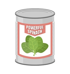 Powerful spinach canned spinach canning pot with vector