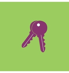 Keys sign icon unlock tool button vector