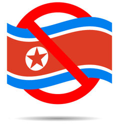 North korea ban sign vector