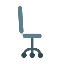 Black leather office chair furniture seat vector