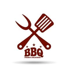Delicious bbq design vector