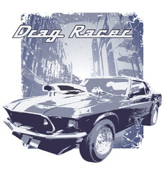 Drag racer vector