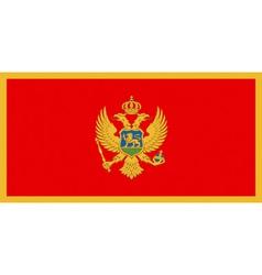 Montenegrin flag vector