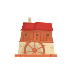 ancient windmill medieval building cartoon vector image vector image