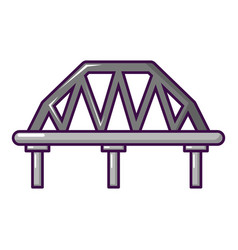 Arched train bridge icon cartoon style vector
