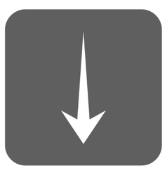 Arrow down flat squared icon vector