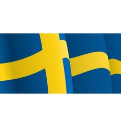 Background with waving swedish flag vector