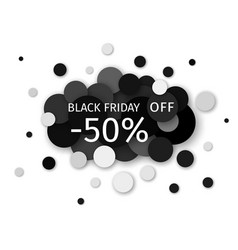 Black friday sale discount creative banner design vector