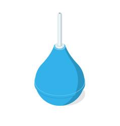 Blue rubber enema vector