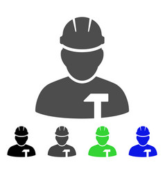 builder person flat icon vector image