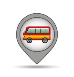 bus map pointer design vector image