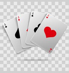 casino gambling poker blackjack - playing cards vector image vector image