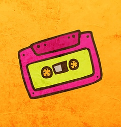Cassette Cartoon vector image vector image