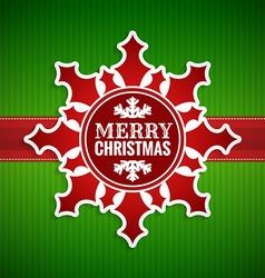 Christmas snowflake vintage card vector image