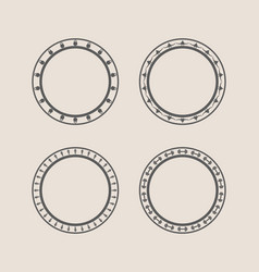 Circular stamps set vector