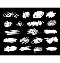 Collection hand drawn brush strok vector image vector image
