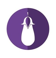 Eggplant vegetable healthy nutrition icon purple vector