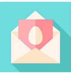 Envelope with egg vector