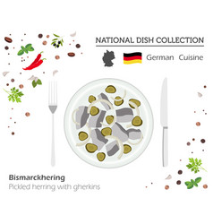 German cuisine european national dish collection vector