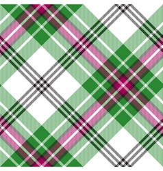 Green white tartan diagonal plaid seamless pattern vector