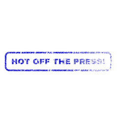Hot off the press exclamation rubber stamp vector