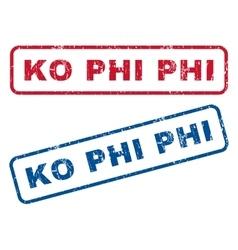 Ko phi phi rubber stamps vector