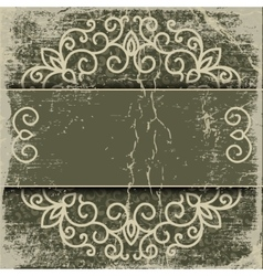 old paper pattern vintage background vector image