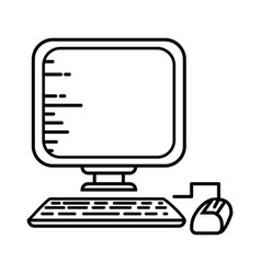pc technology object vector image vector image