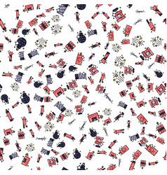 pyrotechnics set pattern vector image vector image