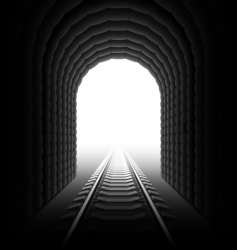 railroad tunnel vector image vector image
