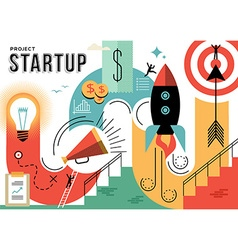 Startup business project concept vector