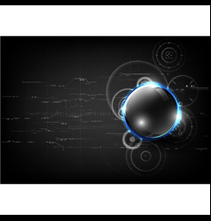technological global communication gear modern vector image vector image