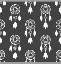 Tribal decoration bohemian dreamcatcher boho vector