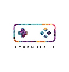 Video game console logotype logo abstract colorful vector