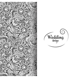 Wedding invitation card with white space and vector