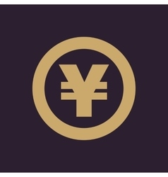 The yen icon cash and money wealth payment vector
